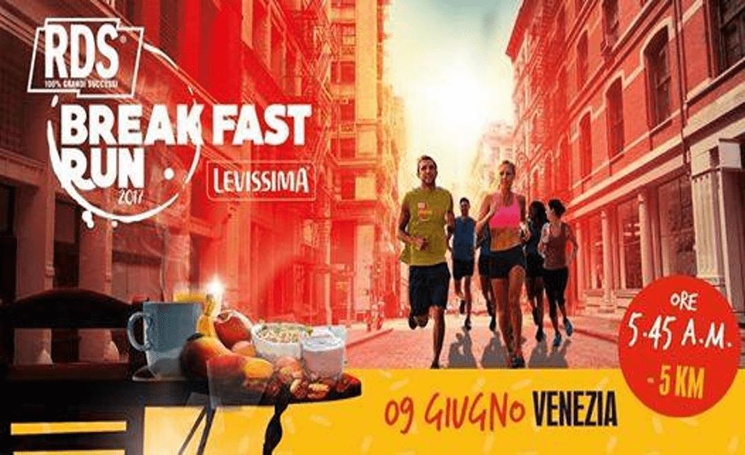 Arriva a Venezia la RDS Breakfast Run Levissima