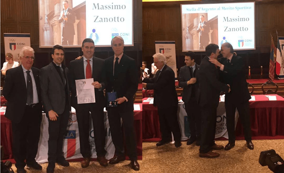 STELLA D'ARGENTO CONI A MASSIMO ZANOTTO, PRESIDENTE CUS VENEZIA