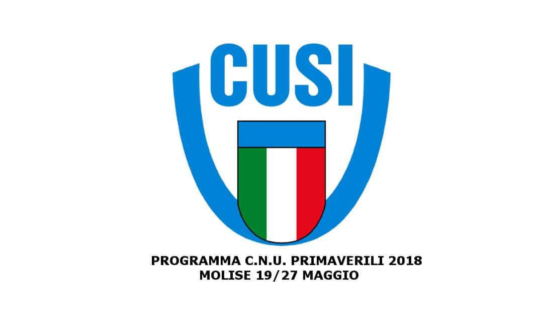 PROGRAMMA CNU PRIMAVERILI 2018