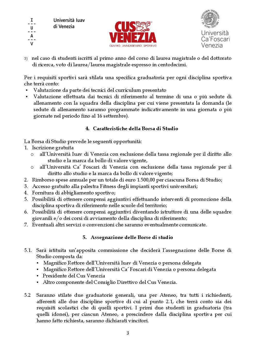 Calendario Lauree Ca Foscari.Nuovo Bando Borse Di Studio Cus Venezia