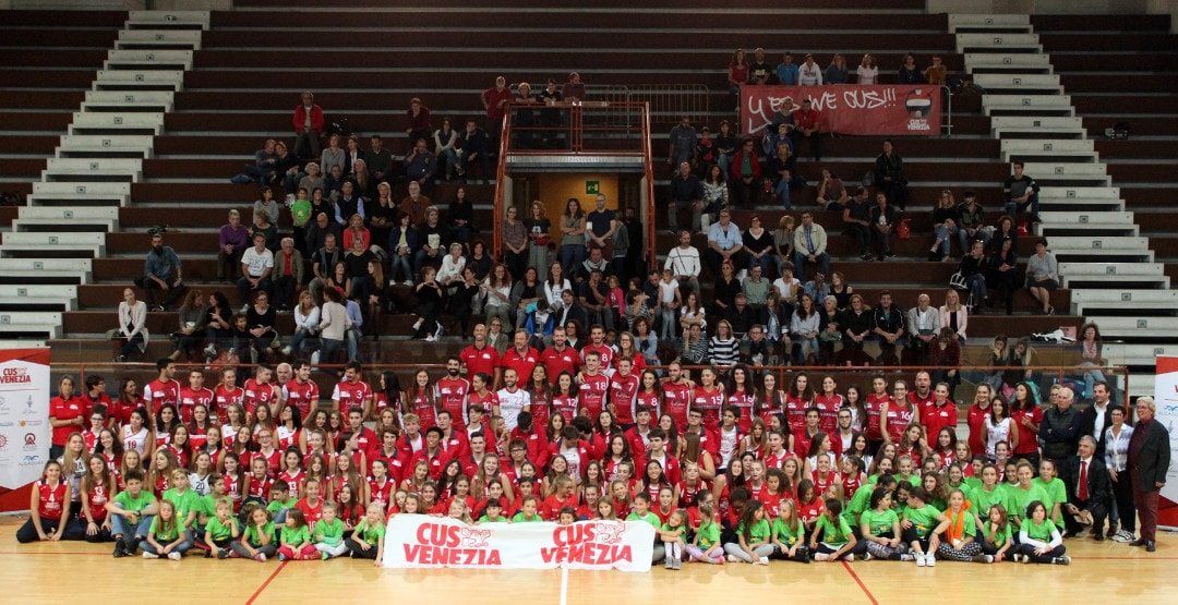 All'Arsenale il varo del nuovo Cus Volley Venezia