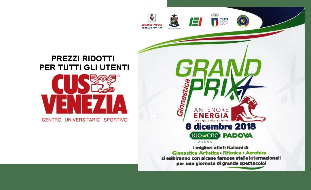 Prezzi ridotti per gli utenti CUS per il Grand Prix di ginnastica a Padova!
