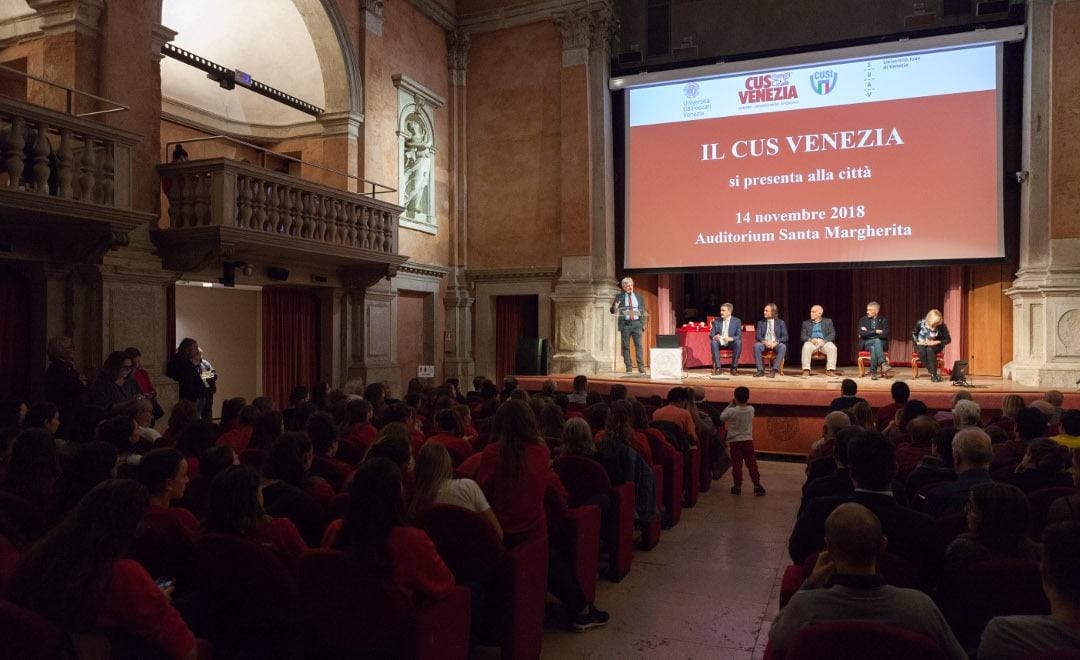 Presentato il CUS Venezia alla città