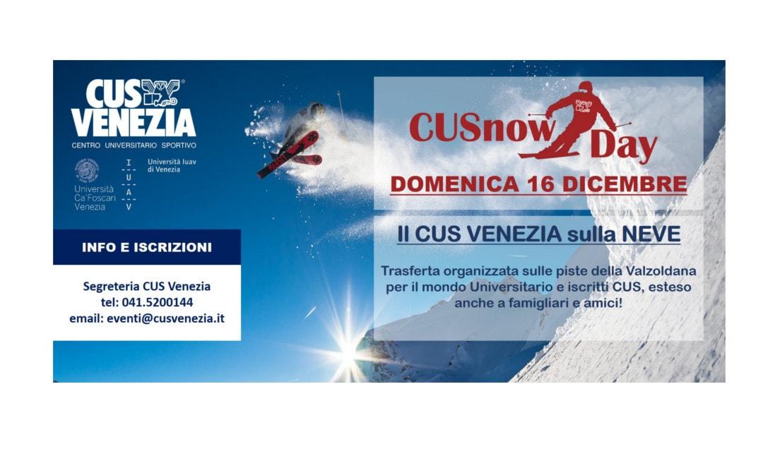 CUSnowDAY: iscriviti all'uscita giornaliera sulla neve organizzata dal CUS venezia