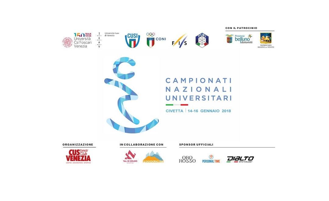 Rinviati i Campionati Nazionali Universitari al 14-16 gennaio 2019