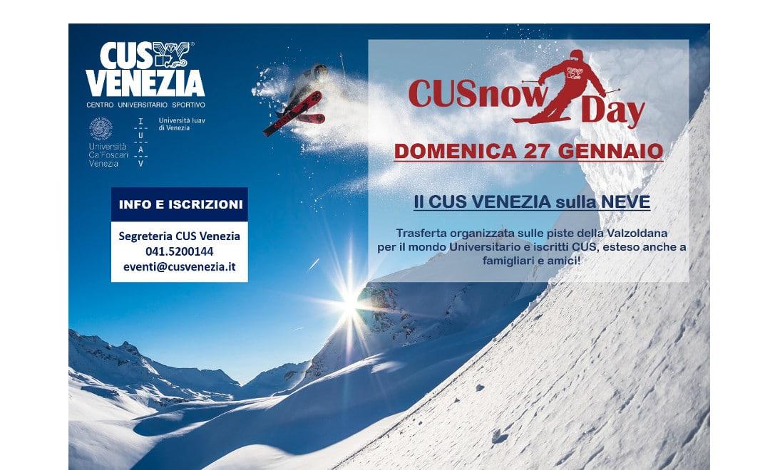 Iscriviti al CUSnowDay: trasferta organizzata sulle piste sciistiche della Valzoldana