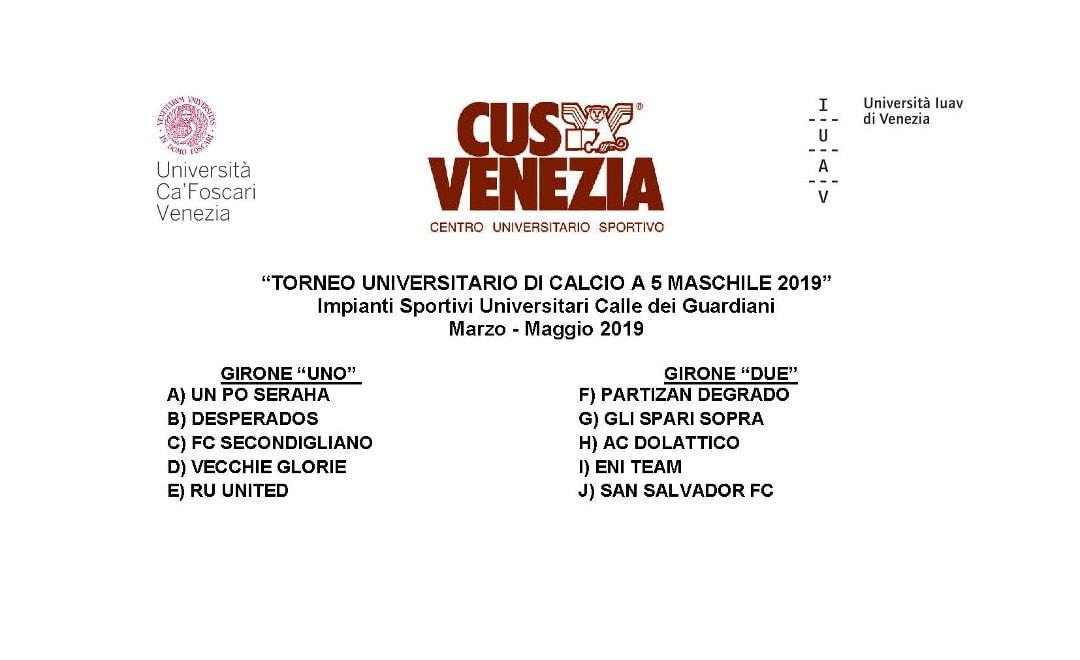 Sorteggiati i gironi e stabilito il calendario: al via le 10 squadre del torneo!