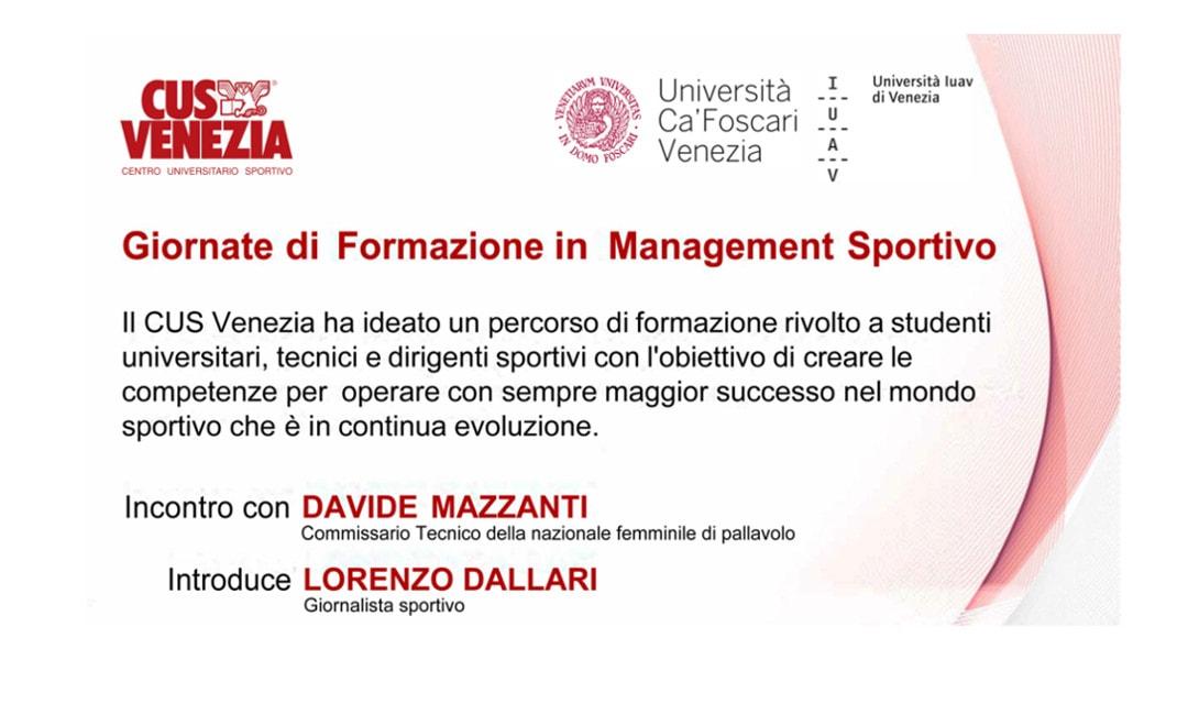 Nuovo appuntamento con i Corsi di Formazione in Management Sportivo