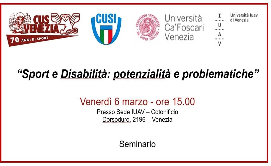 """Seminario: """"Sport e Disabilità"""""""
