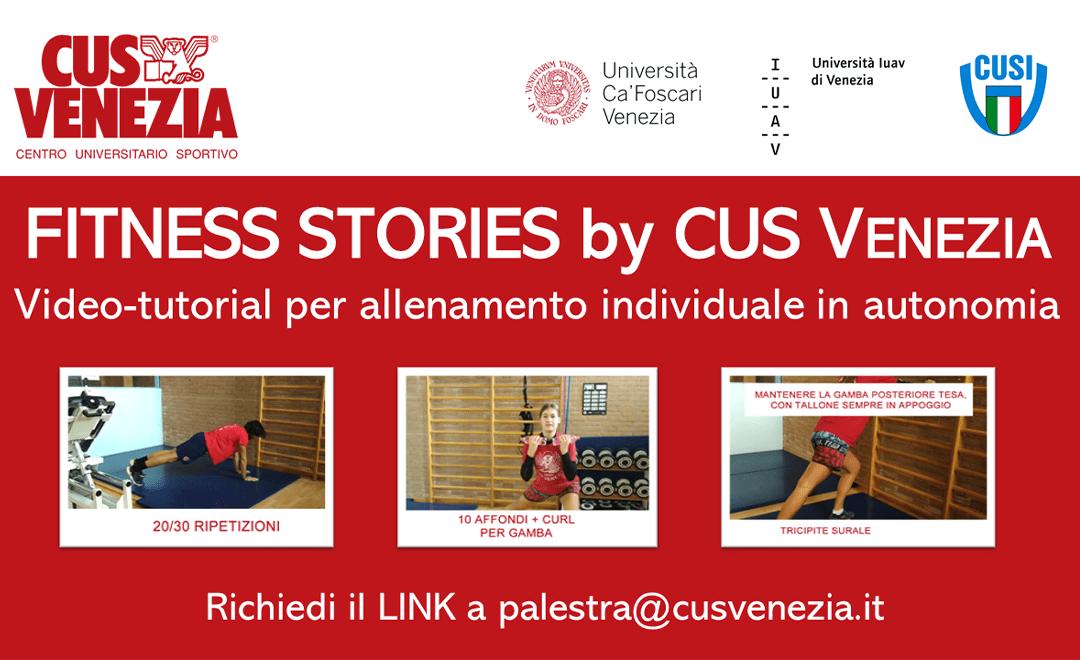 Fitness Stories: allenamento a casa con il CUS Venezia