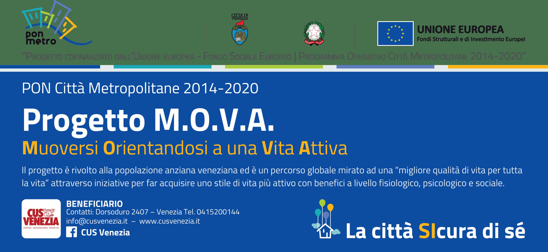 """La città SIcura di sé, bando """"Condominio e reti solidali"""": il primo sarà M.O.V.A. (Muoversi Orientandosi ad una Vita Attiva) del CUS Venezia."""
